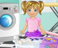 Baby Emma Laundry Time