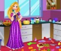 Rapunzel Messy Kitchen Cleaning