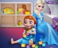 Elsa Playing With Baby Anna